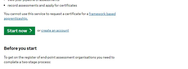 Department for Education – Apprenticeship assessment service